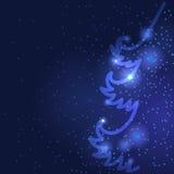 Предпосылка приветствию ели рождества Стоковое Фото