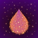 Предпосылка приветствию с Рождеством Христовым Стоковое Изображение RF