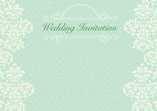 Предпосылка приглашения свадьбы мяты зеленая Стоковое фото RF