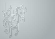 Предпосылка примечания музыки белой бумаги Стоковое фото RF