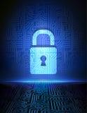 Предпосылка принципиальной схемы безопасностью кибер. Стоковые Фото