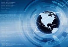 Предпосылка принципиальной схемы интернета Стоковое Изображение