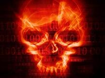 Предпосылка принципиальной схемы нападения хакера Стоковые Изображения RF