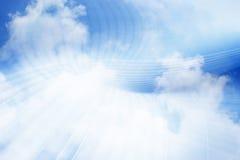 Предпосылка принципиальной схемы облака вычисляя Стоковые Фотографии RF