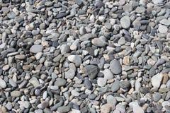 Предпосылка природы от серых камешков моря Стоковое Изображение RF