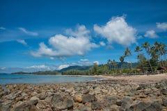 Предпосылка природы, пляж чистой воды тропический, море Andaman, koh Стоковые Изображения RF