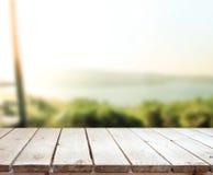 Предпосылка природы столешницы и нерезкости Стоковое Фото