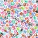 Предпосылка проиллюстрированных Crayon монеток цента евро Стоковое Изображение