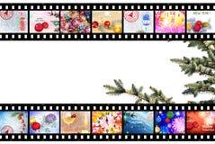 Предпосылка прокладки фильма зимних отдыхов Стоковое Изображение