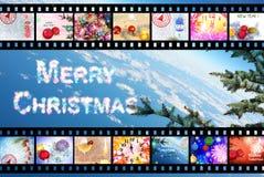 Предпосылка прокладки фильма зимних отдыхов Стоковые Изображения RF