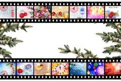 Предпосылка прокладки фильма зимних отдыхов Стоковые Изображения