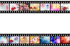 Предпосылка прокладки фильма зимних отдыхов Стоковое Фото