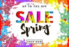 Предпосылка продажи весны красочная Стоковое Изображение