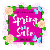 Предпосылка продажи весны красочная Стоковое Изображение RF