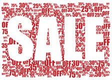 Предпосылка продажи красная и белая Стоковые Фотографии RF