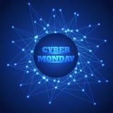 Предпосылка продажи понедельника кибер Стоковое Изображение