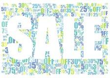 Предпосылка продажи multicolor Стоковая Фотография RF