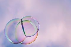 Предпосылка пузырей мыла абстрактная Стоковое Фото