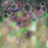 предпосылка, пузыри мыла Стоковые Фотографии RF