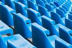 Предпосылка пустых голубых мест в стадионе Стоковые Фотографии RF