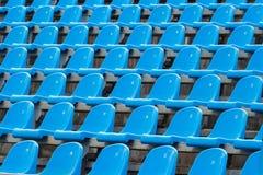 Предпосылка пустых голубых мест в стадионе Стоковое фото RF
