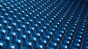 Предпосылка пустых голубых мест стадиона Стоковые Изображения RF