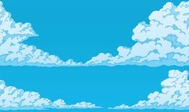 Предпосылка пушистых облаков кумулюса Стоковое Изображение