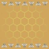 Предпосылка пчелы и меда Стоковая Фотография