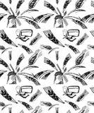 Предпосылка пшеницы безшовная иллюстрация вектора