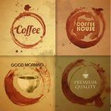 Предпосылка пятна кофе акварели иллюстрация вектора