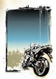 Предпосылка плаката мотоцилк Стоковое Фото