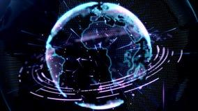 Предпосылка планеты абстрактная для информационного сообщения сток-видео
