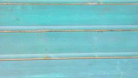 Предпосылка планок сини бирюзы покрашенная деревянная Стоковые Изображения