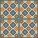 Предпосылка плитки вектора безшовная орнаментальная итальянский тип следы звезд яркой иллюстрации лучей солнечные Стоковое Изображение