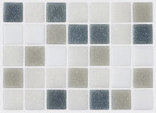 Предпосылка плиток мозаики серых и голубых Стоковое Изображение