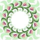Предпосылка плоского stile флористическая Стоковые Изображения RF