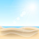 Предпосылка пляжа песка. Стоковое Изображение