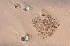 Предпосылка пляжа песка Стоковое Изображение