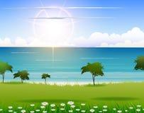 Предпосылка пляжа природы для вас дизайн иллюстрация штока