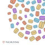 Предпосылка разбросанного покрашенного macaroon doodle для дизайна Стоковые Фотографии RF