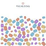 Предпосылка разбросанного покрашенного macaroon doodle для дизайна Стоковая Фотография RF
