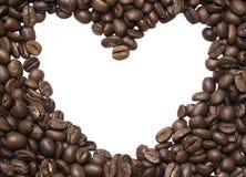 Предпосылка разлитых фото зажарила в духовке кофе Arabica Стоковая Фотография RF