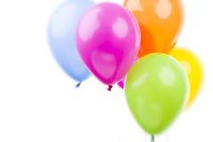 предпосылка раздувает цветастая белизна партии украшения Стоковое Изображение