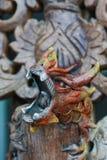 Предпосылка дракона, деревянная предпосылка дракона, гигантский китайский дракон Стоковые Фотографии RF
