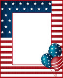 Предпосылка рамки США Дня независимости Стоковая Фотография RF