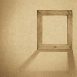 Предпосылка рамки Grunge деревянная, винтажная бумажная текстура Стоковая Фотография