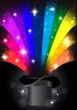 Предпосылка радуги волшебная красочная абстрактная Стоковое фото RF
