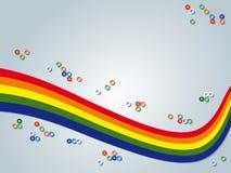 Предпосылка радуги Стоковое Изображение RF