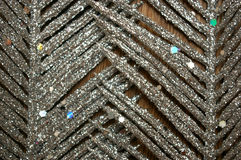 Предпосылка древесины пера яркого блеска серебряная Стоковое Изображение
