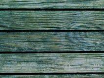 Предпосылка древесины Teal Естественная деревянная текстура с горизонтальными прямыми Стоковые Фото